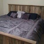 Pallet King Size Bed With Crate Storage 101 Pallets