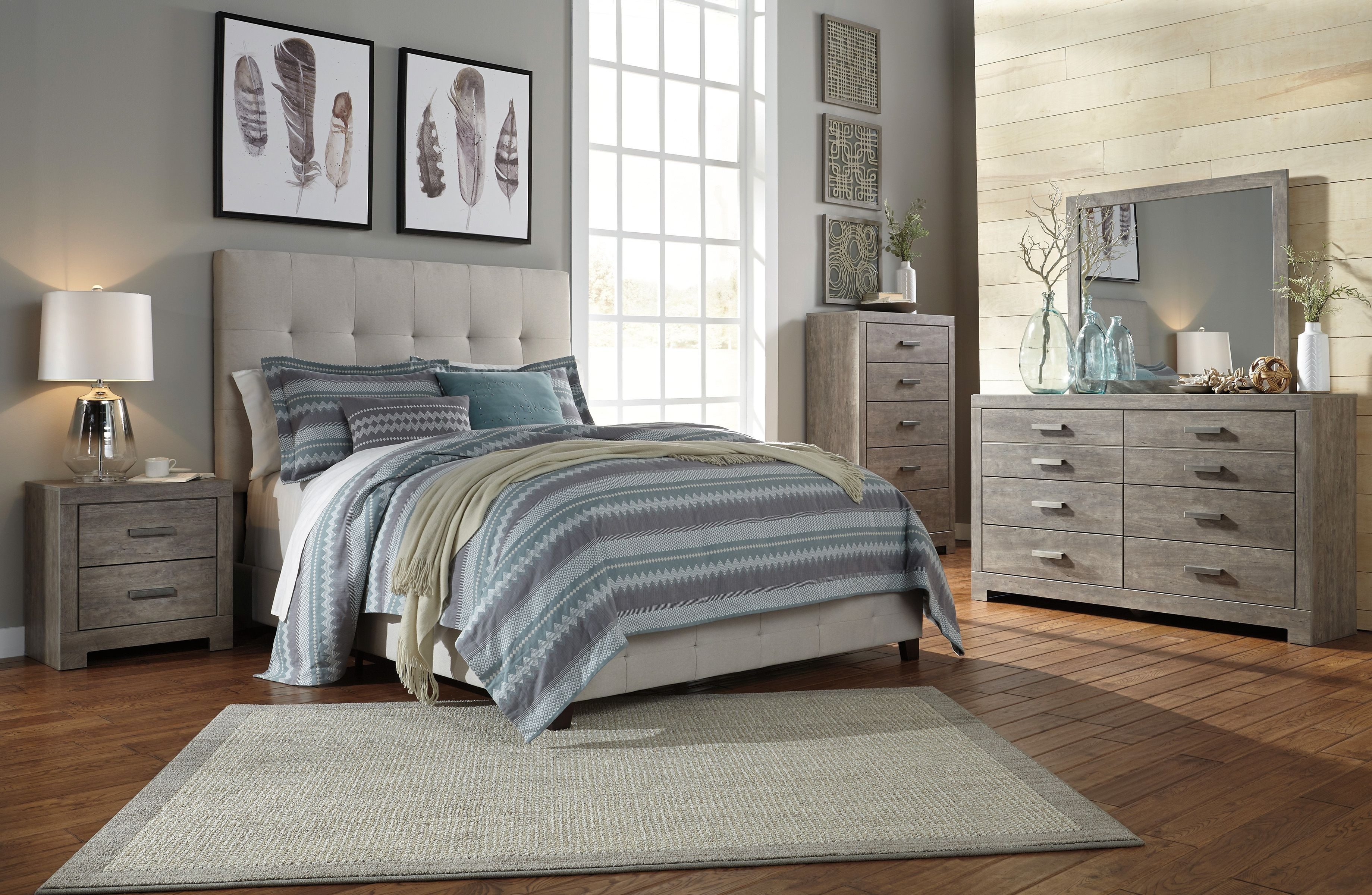 Signature Design By Ashley Contemporary Beige King