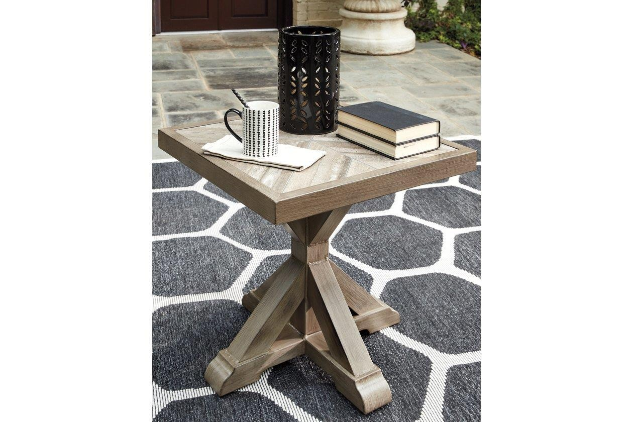Beachcroft Beige Square End Table - 1StopBedrooms. on Beachcroft Beige Outdoor Living Room Set  id=46750