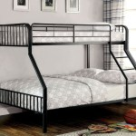 Clement Black Twin Over Full Metal Bunk Bed 1stopbedrooms