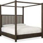 Miramar Aventura Dark Wood Jackson Queen Canopy Bed 1stopbedrooms