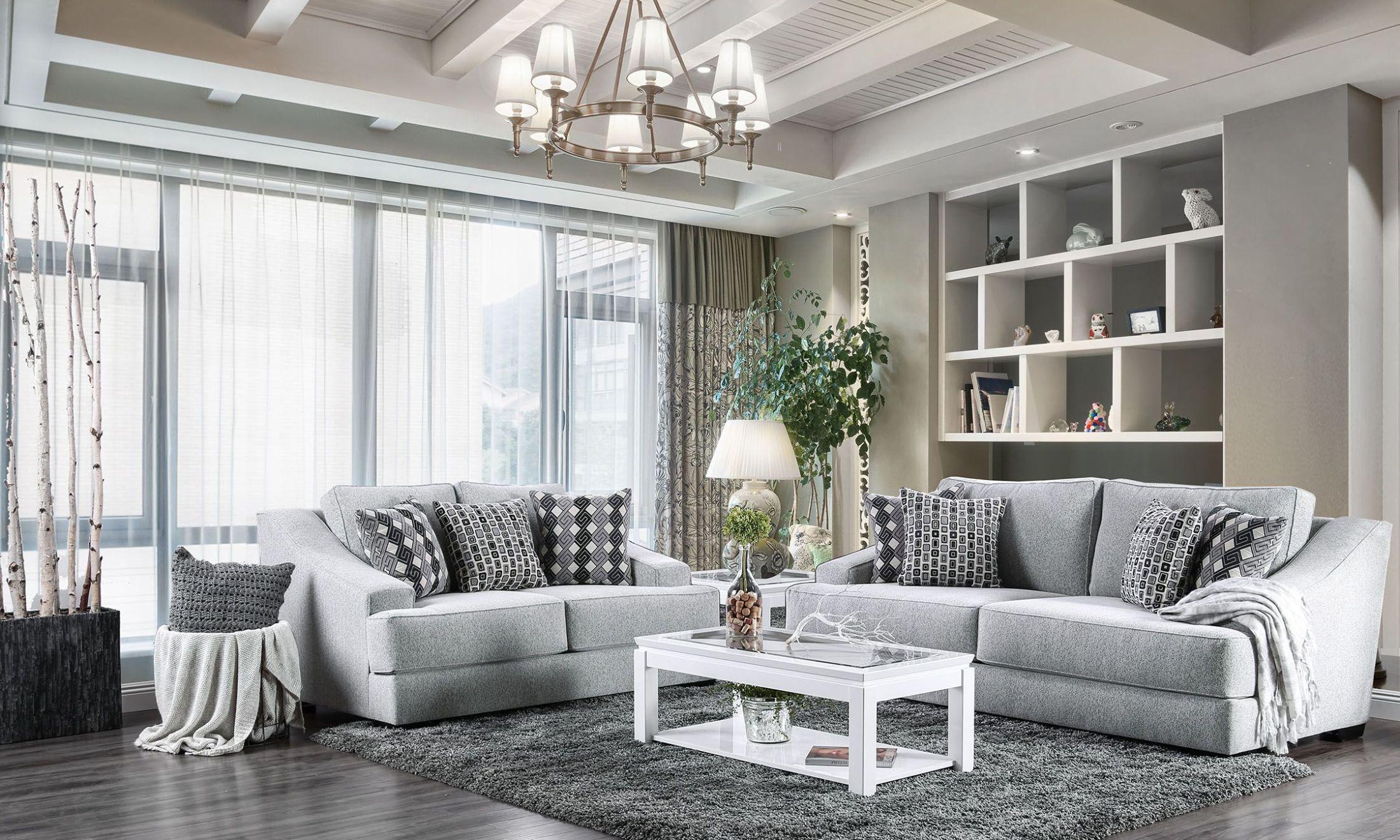 Lesath Light Gray Living Room Set