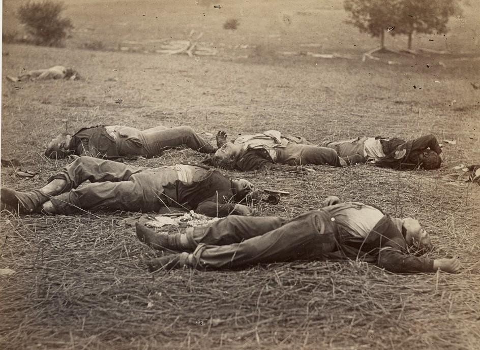 Escena posterior a la batalla de Gettysburg