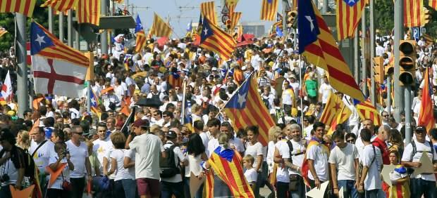 Manifestación de la Diada 2015.