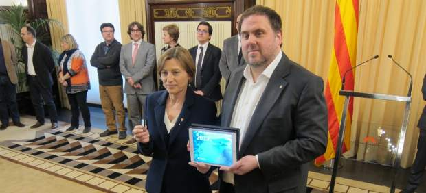 Carmel Forcadell y Oriol Junqueras