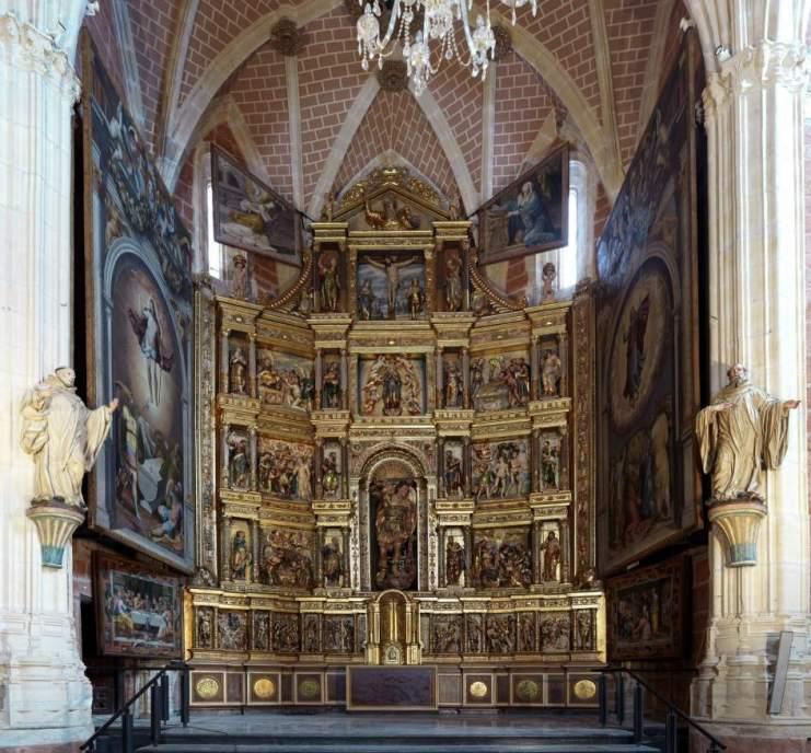 Resultado de imagen de retablo san Miguel Ibdes restauración