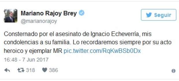 Pedro Sánchez y Mariano Rajoy en Twitter.