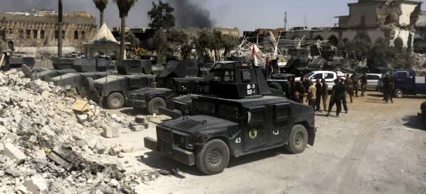 Las fuerzas iraquíes en Mosul.