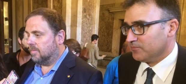 Oriol Junqueras y el secretario de Hacienda Lluís Salvadó