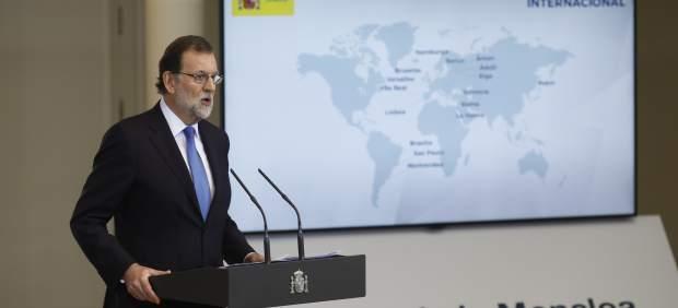 Rajoy hace cómputo del curso politico en Moncloa