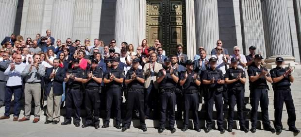 Concentración policial en el Congreso