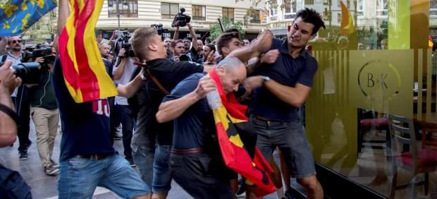 Enfrentamientos en Valencia