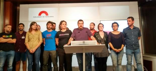 El secretariado de la CUP tras la declaración de Puigdemont en el Parlament