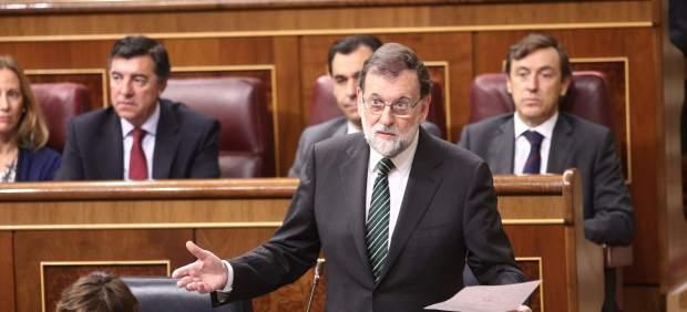 El presidenta del Gobierno, Mariano Rajoy, en el Congreso.