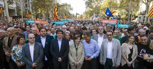 Manifestación contra el 155
