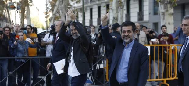 Jordi Sànchez y Jordi Cuixart, dirigentes de la ANC y Òmnium Cultural.