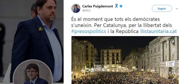 Puigdemont denomina a una lista unitaria