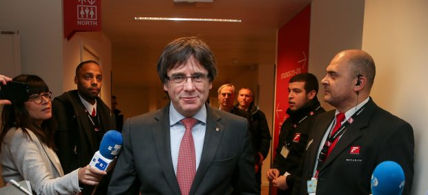 Puigdemont en el centro de Convenciones de Bruselas