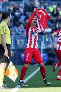 Resultado de imagen de griezmann dedicatoria gol