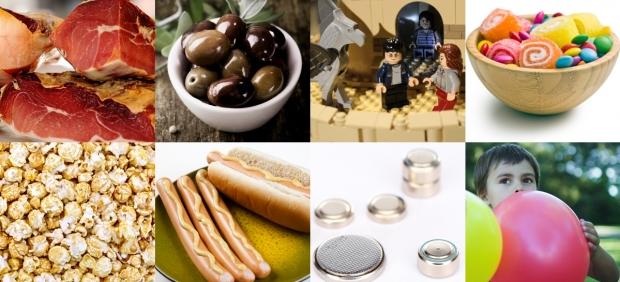 Alimentos y objetos con peligro de atragantamiento