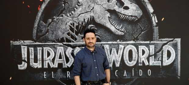 Juan Antonio Bayona, en la premiere madrileña de 'Jurassic World: El reino caído'.