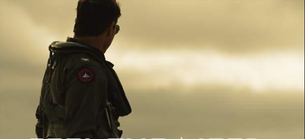 Foto promocional de Tom Cruise en la secuela de 'Top Gun'.