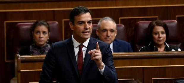 Pedro Sánchez, en la sesión de control