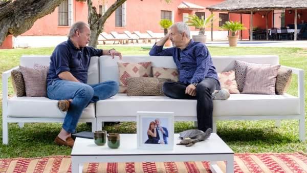 Carlos Sobera y Bertín Osborne, en 'Mi casa es la tuya'.
