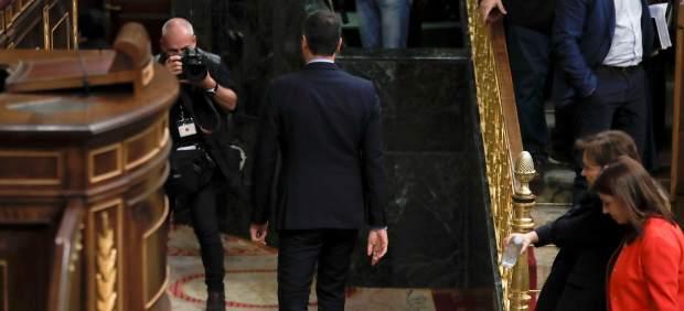 Sánchez abandona el Congreso