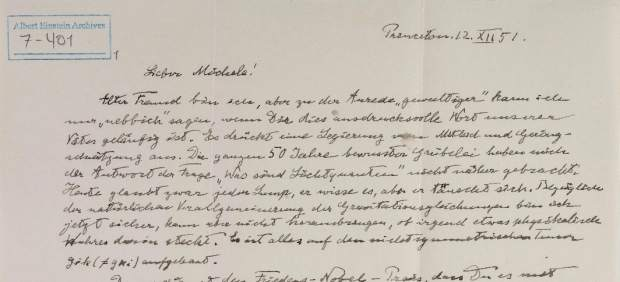 Manuscritos de Einstein desconocidos revelados por la Universidad Hebrea.