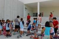 Los niños de Alcalá de Guadaíra aprenden seguridad vial en la escuela de verano del 'Proyecto Dragón'