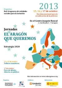 La Red Aragonesa de Entidades para la Inclusión propone a Europa 'El Aragón que queremos'