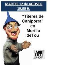 Morillo de Tou acoge el espectáculo 'Títeres de Cachiporra' de Teatro Arbolé