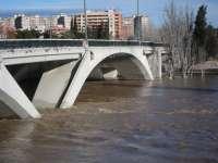 El repunte de la crecida del Ebro mantiene anegadas mil hectáreas en Novillas