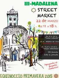 Los comercios sacan sus productos a las calles en el Madalena Street Market