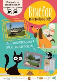 El Ayuntamiento de Binéfar inicia una campaña de sensibilización sobre los deberes de los dueños de mascotas