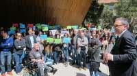 Alumnos, profesores y sindicatos de la pública se concentran en rechazo a Magisterio en la USJ