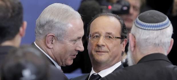 Netanyahu visita a Hollande