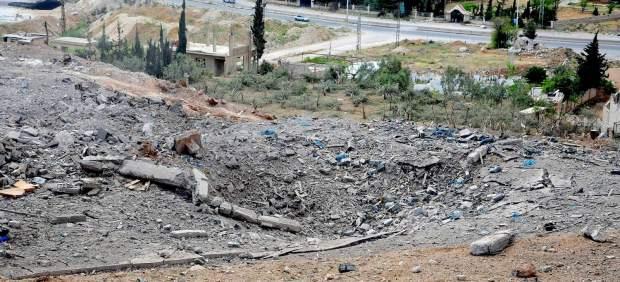 Ataque aéreo en Siria