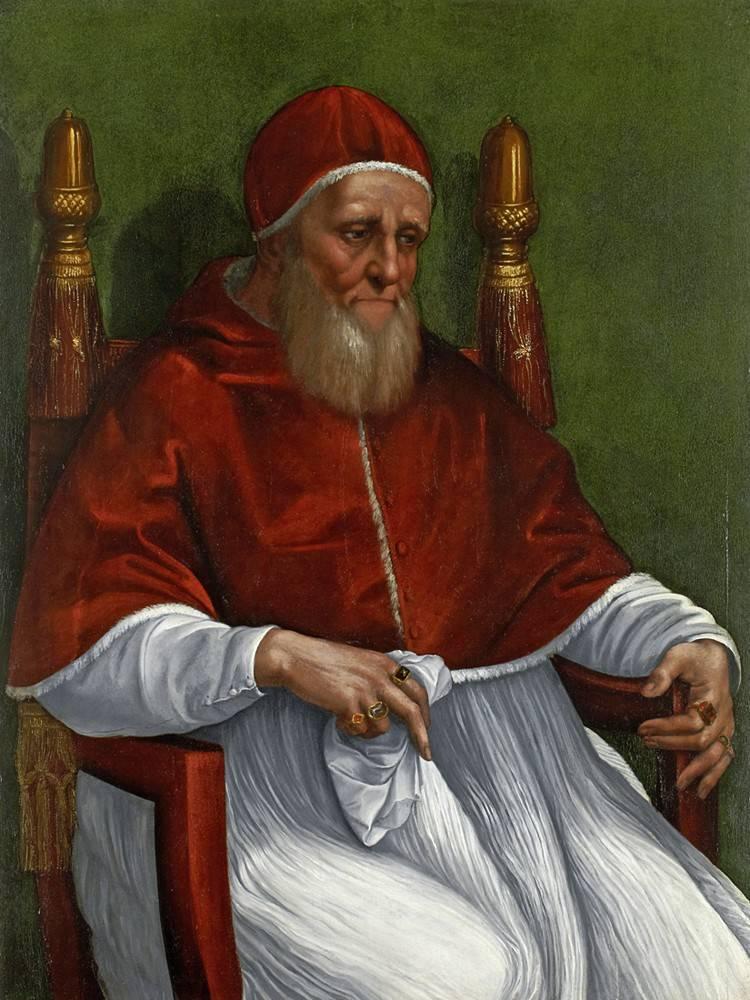 El Papa Julio II retratado por Rafael Sanzio