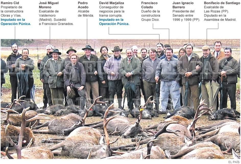 Operación púnica cacería ciervos