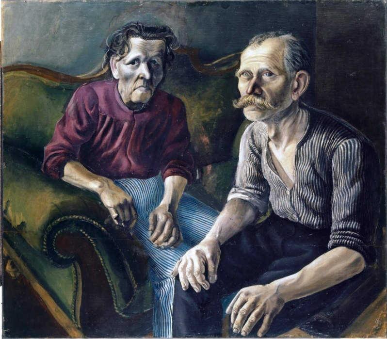 Otto Dix pintó a sus padres en 1921