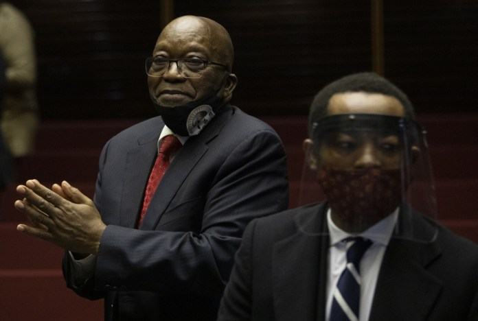 Former South African President Jacob Zuma appears