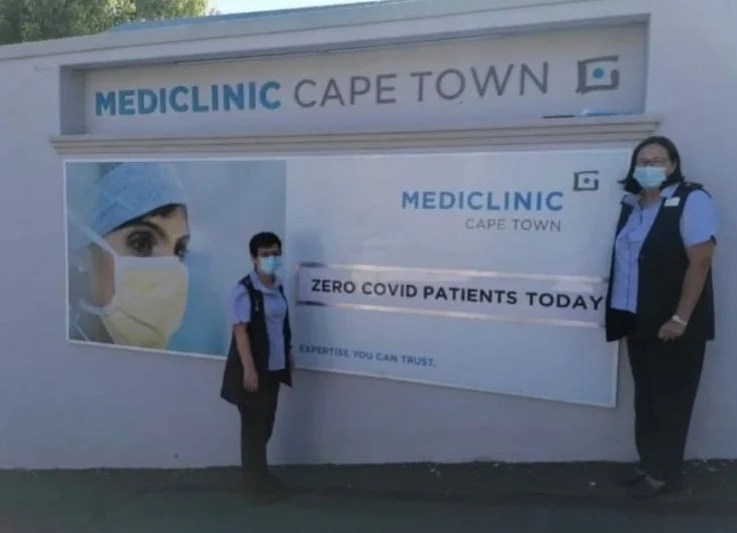 Mediclinic Cape Town recently discharged it's last Covid-19 patient.