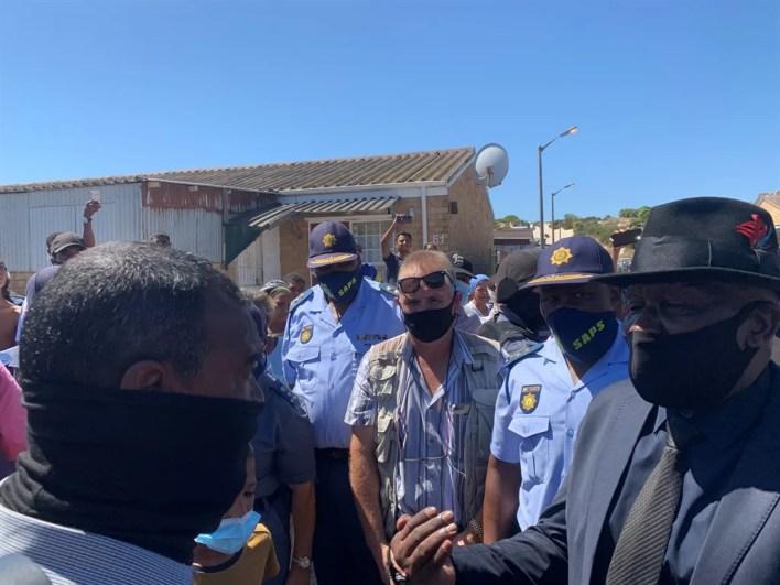 Bheki Cele visits Mitchells Plain after recent shootings.