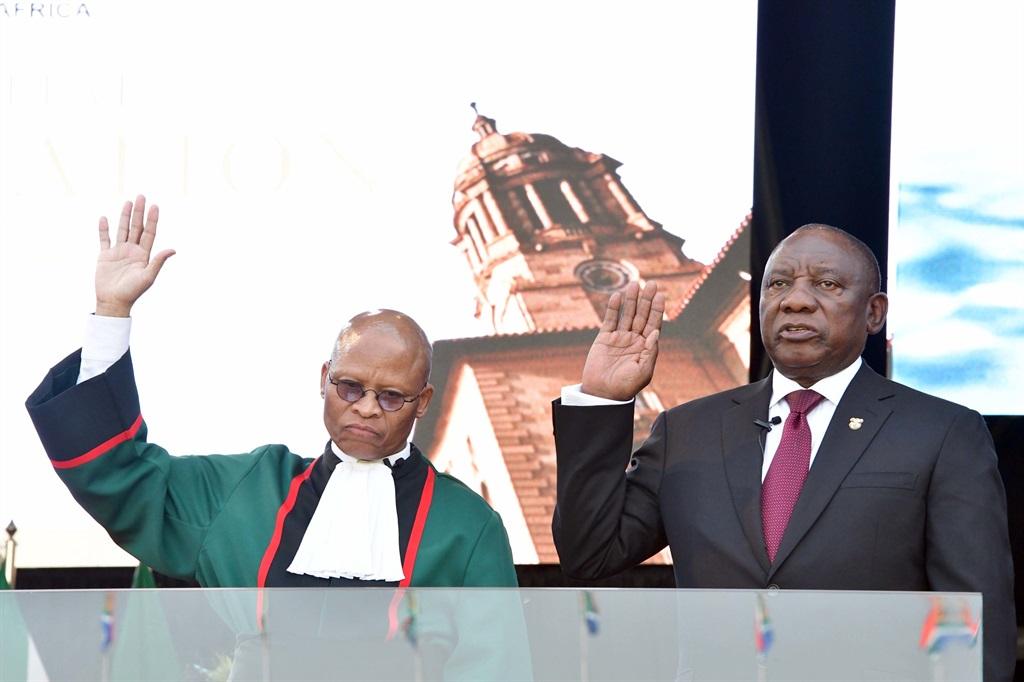 President Cyril Ramaphosa and Chief Justice Mogoeng Mogoeng.