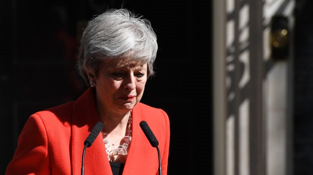 Prime Minister Theresa May announces she will resi