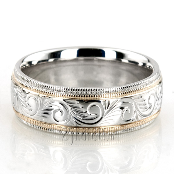Bestseller Hand Engraved Fancy Wedding Band FC100476