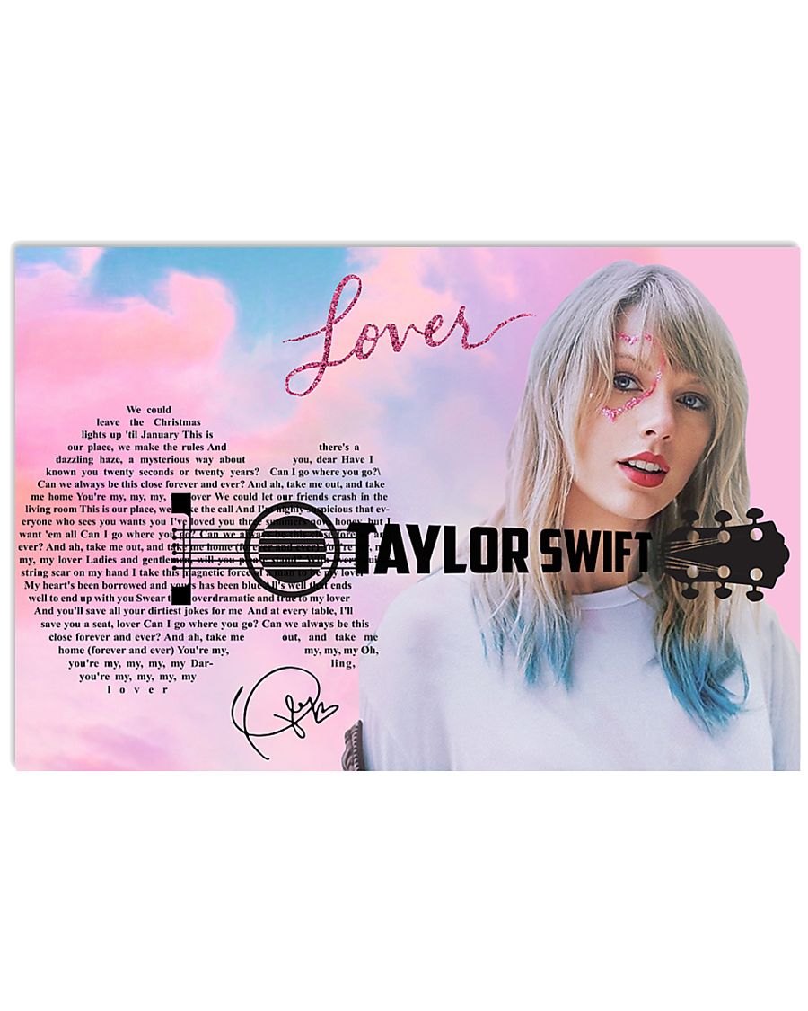 lover poster song lyrics poster taylor swift 24x16 poster size white