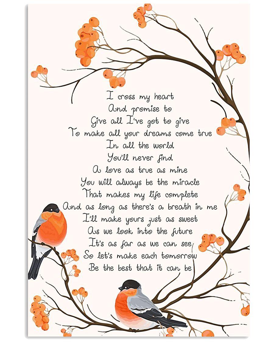 george strait i cross my heart lyrics 11x17 poster size white